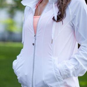 White Lululemon Transition Jacket